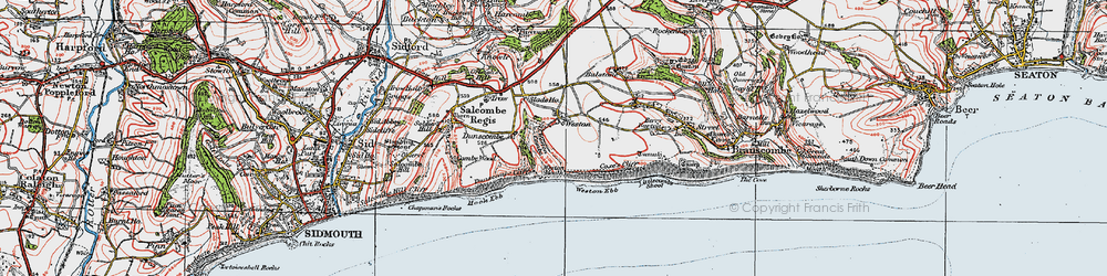 Old map of Weston Combe in 1919