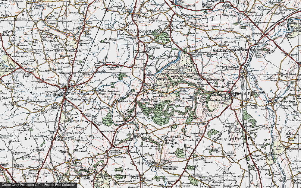 Old Map of Weston, 1921 in 1921