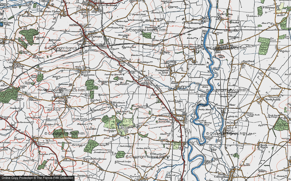 Old Map of Weston, 1923 in 1923