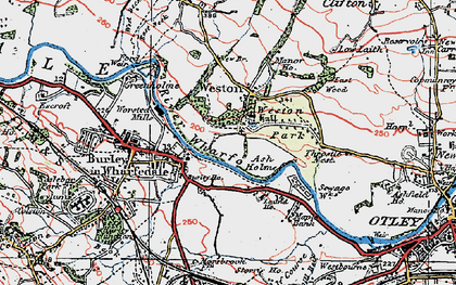 Old map of Ash Holme in 1925