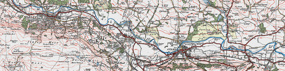 Old map of Weston in 1925