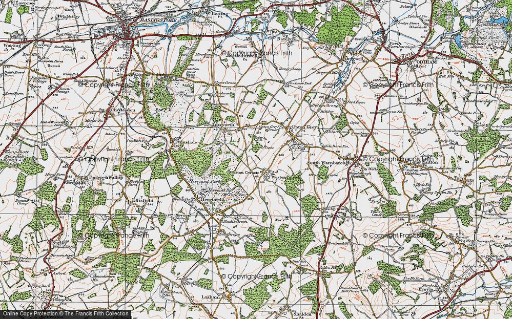 Old Map of Weston Corbett, 1919 in 1919