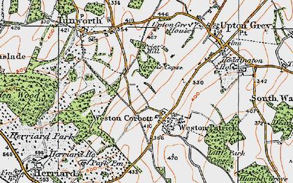 Old map of Weston Corbett in 1919