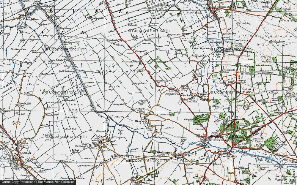 Old Map of Weston Ditch, 1920 in 1920