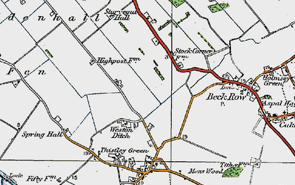 Old map of Weston Ditch in 1920