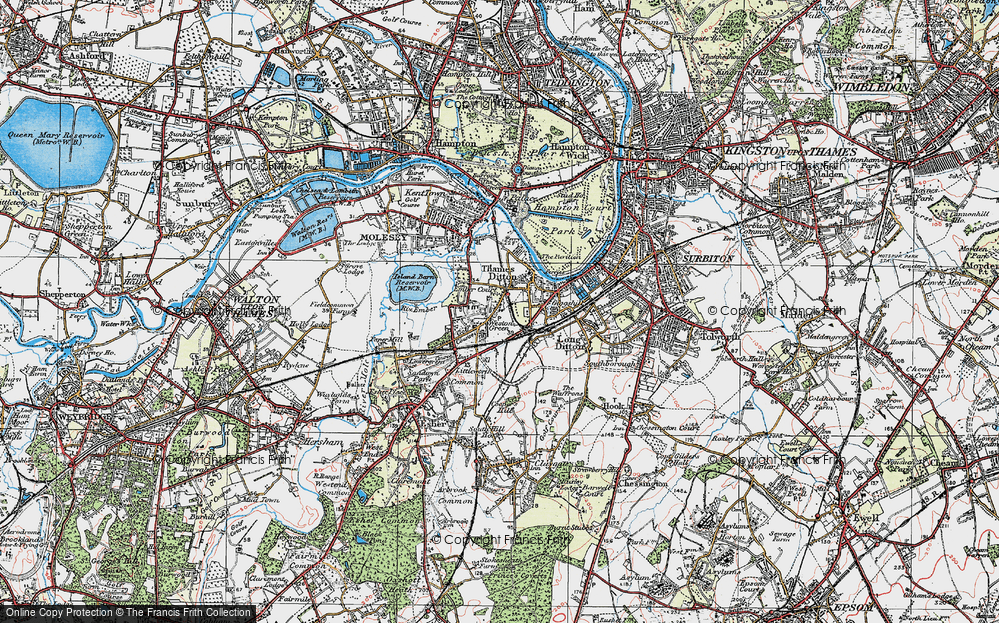 Old Map of Weston Green, 1920 in 1920
