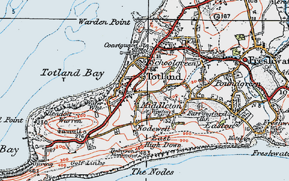 Old map of Weston Manor in 1919