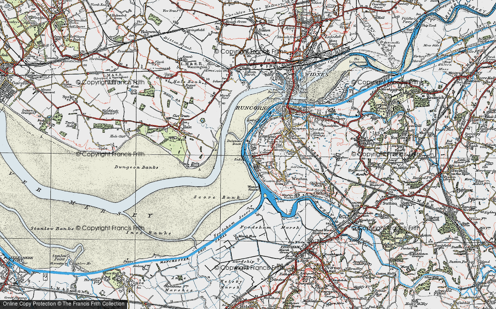 Old Map of Weston Point, 1923 in 1923