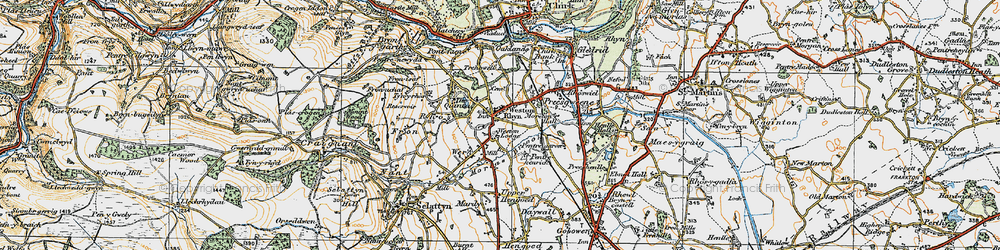 Old map of Weston Lodge in 1921