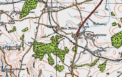 Old map of Weston Town in 1919