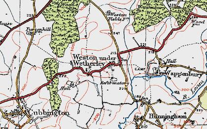 Old map of Weston under Wetherley in 1919
