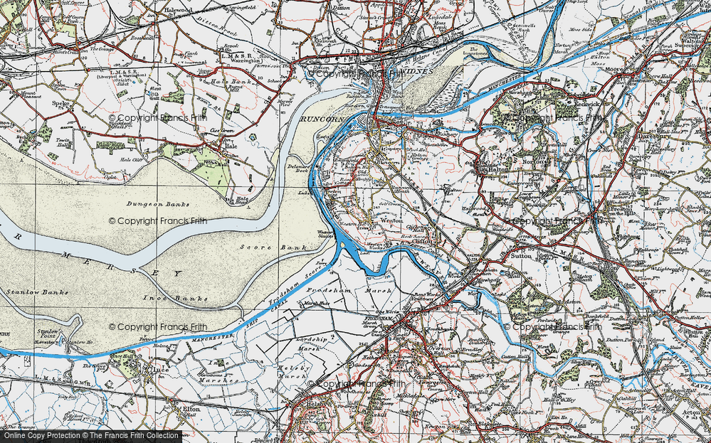 Old Map of Weston Village, 1923 in 1923