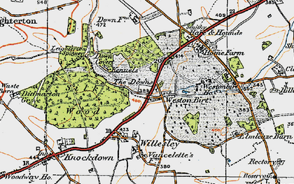 Old map of Westonbirt School in 1919