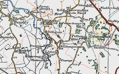 Old map of Westoncommon in 1921