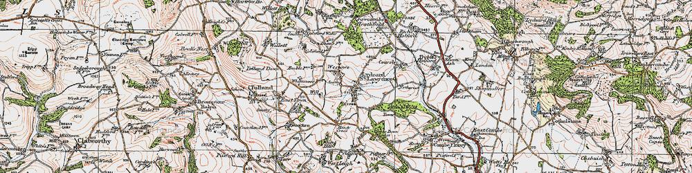 Old map of Westowe in 1919