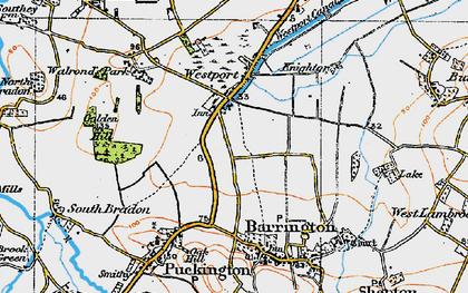 Old map of Westport in 1919