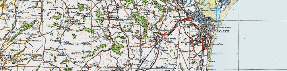 Old map of Westra in 1919