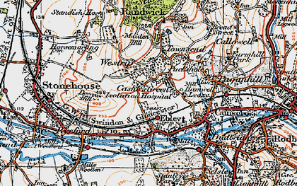 Old map of Westrip in 1919