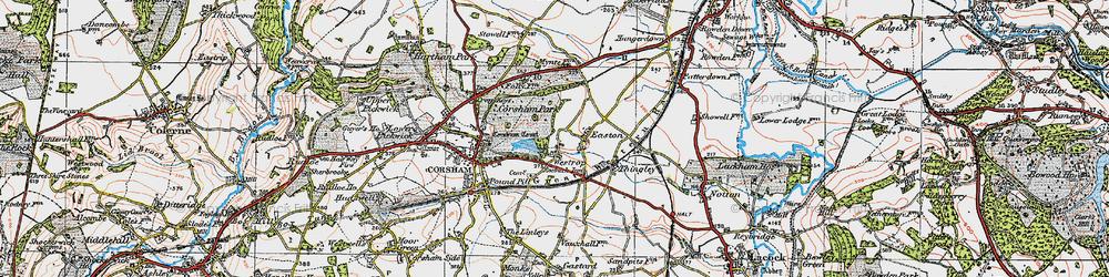 Old map of Westrop in 1919