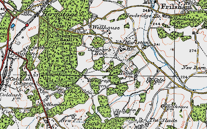 Old map of Westrop Green in 1919