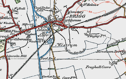 Old map of Westrum in 1923