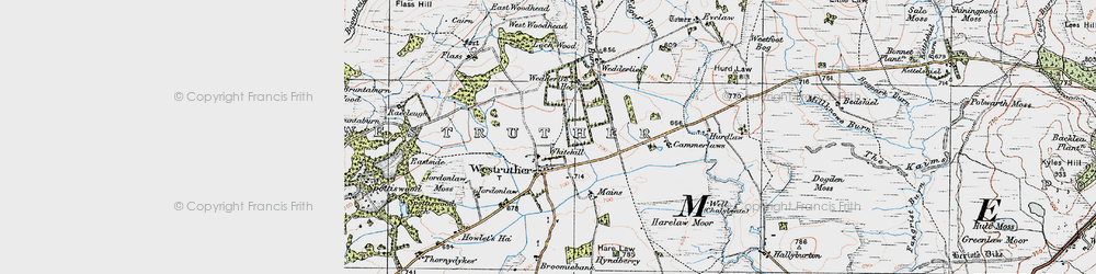 Old map of Whitehill in 1926