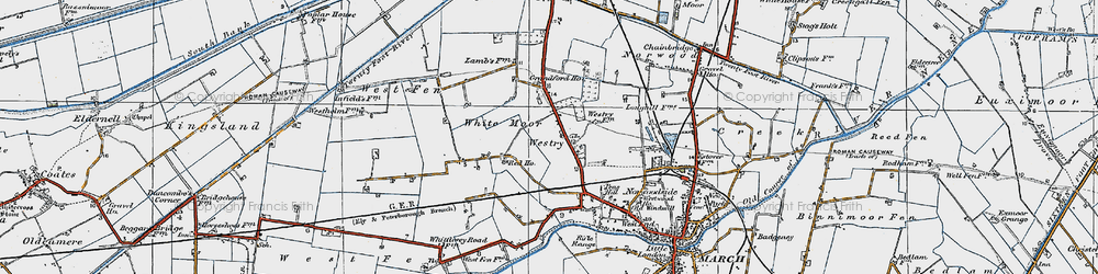 Old map of White Moor in 1922