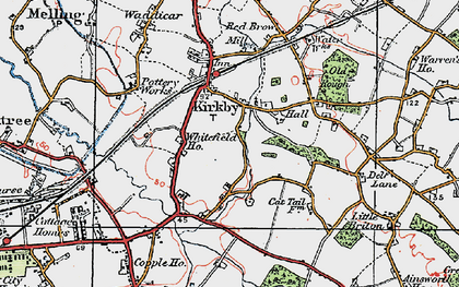 Old map of Westvale in 1923