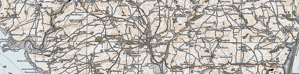 Old map of Westville in 1919