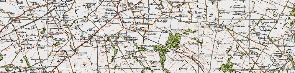 Old map of Westward Park in 1925