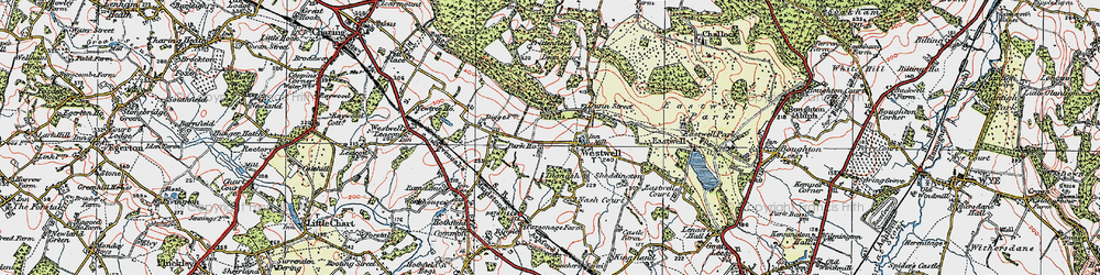 Old map of Westwell in 1921