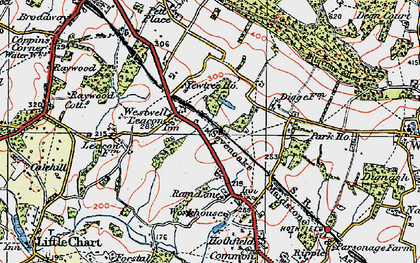 Old map of Westwell Leacon in 1921