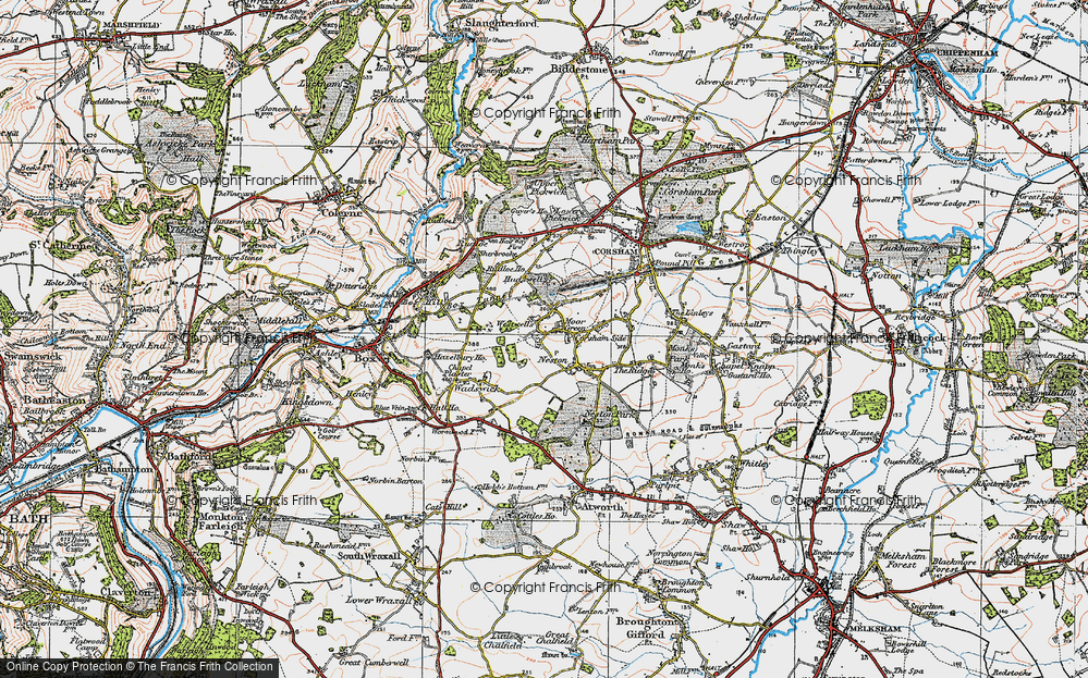 Old Map of Westwells, 1919 in 1919