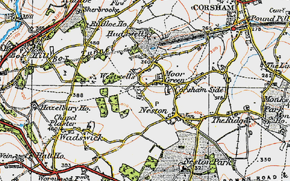 Old map of Westwells in 1919