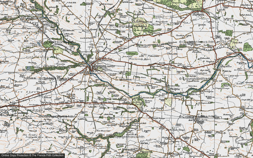 Old Map of Westwick, 1925 in 1925