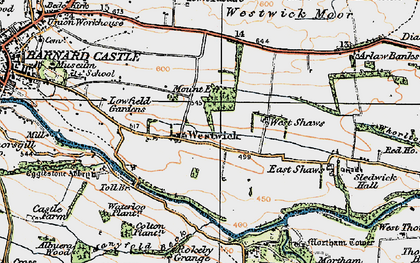 Old map of Westwick in 1925