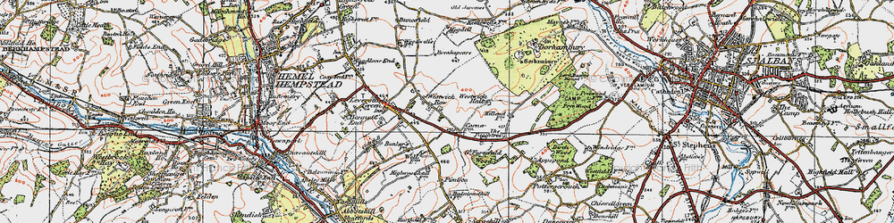 Old map of Westwick Row in 1920