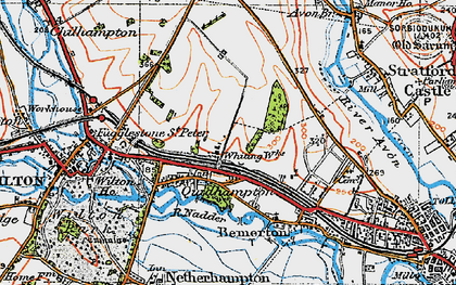 Old map of Westwood in 1919