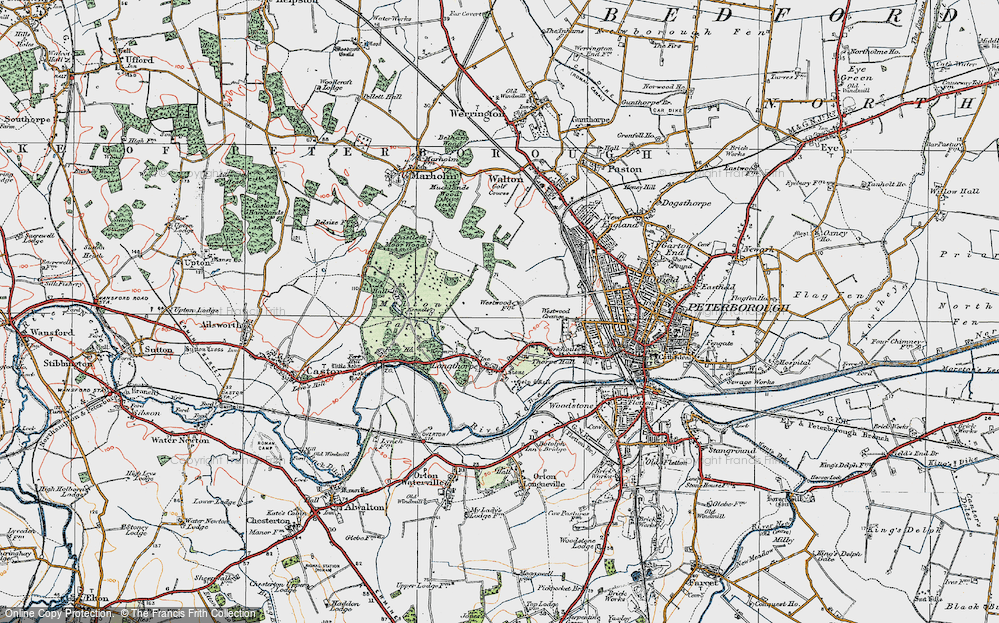 Old Map of Westwood, 1922 in 1922