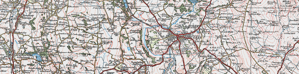 Old map of Westwood Hall Sch in 1923