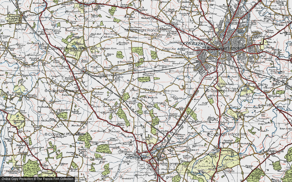 Old Map of Westwood Heath, 1921 in 1921