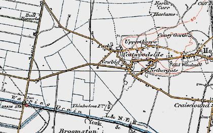 Old map of Westwoodside in 1923