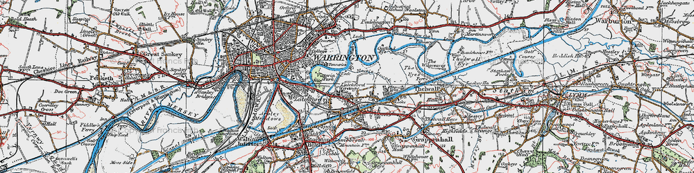 Old map of Westy in 1923