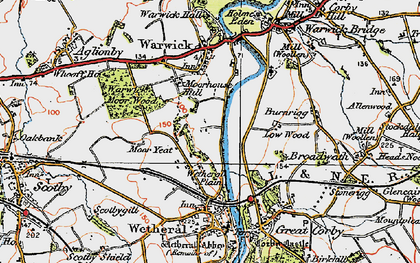 Old map of Wetheral Plain in 1925