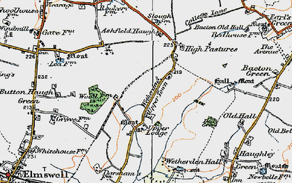 Old map of Ashfield Haugh in 1921
