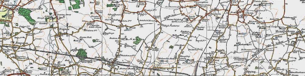 Old map of Willow Wood in 1921