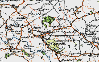 Old map of Wethersfield in 1921