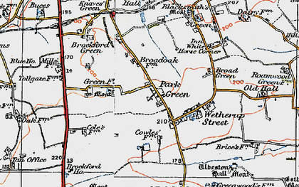 Old map of Wetherup Street in 1921