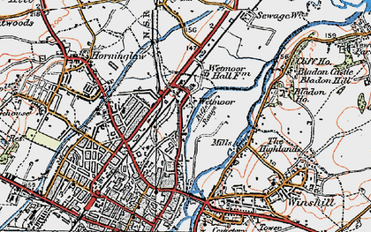 Old map of Wetmore in 1921