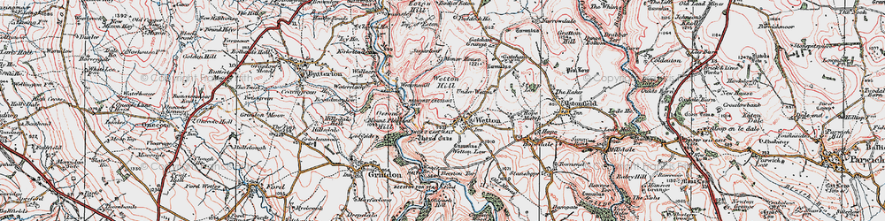 Old map of Wettonmill in 1923